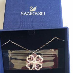 Swarovski Pink Cloverleaf Necklace